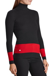 Lauren Ralph Lauren Border-Stripe Turtleneck Sweater