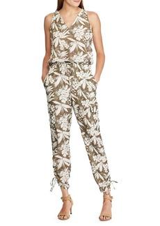 Lauren Ralph Lauren Botanical Printed Crepe Jumpsuit