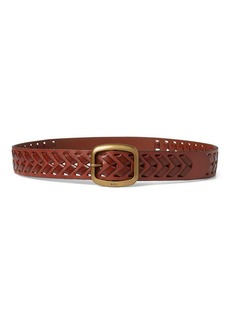 Lauren Ralph Lauren Braided Leather Belt