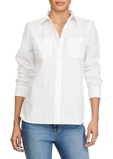 Lauren Ralph Lauren Broadcloth Button-Down Shirt