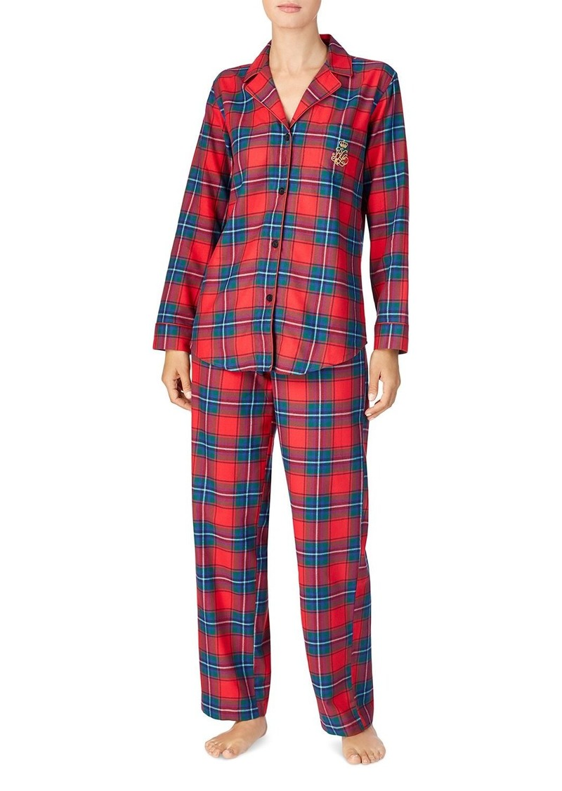 Lauren Ralph Lauren Brushed Cotton Twill Pajama Set