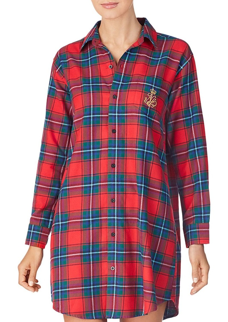 Lauren Ralph Lauren Brushed Cotton Twill Sleepshirt