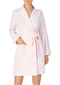 Lauren Ralph Lauren Brushed Knit Short Robe