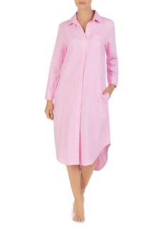 Lauren Ralph Lauren Brushed Twill Long Sleepshirt