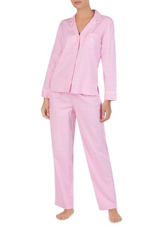 Lauren Ralph Lauren Brushed Twill PJ Set