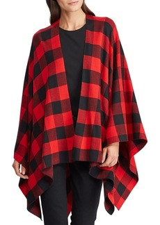 Lauren Ralph Lauren Buffalo Check Cotton-Blend Poncho