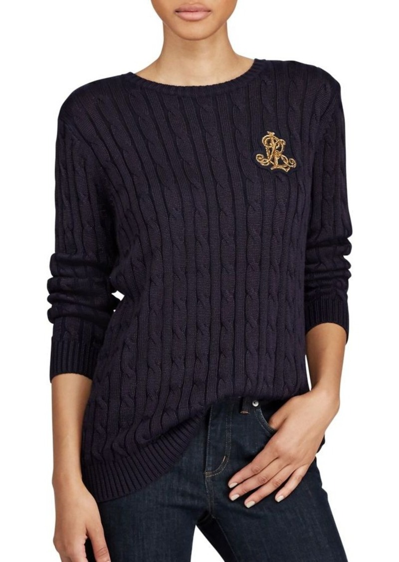 Ralph Lauren Lauren Ralph Lauren Bullion Cable-Knit Sweater ...