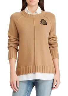 Lauren Ralph Lauren Bullion Patch Layered Sweater