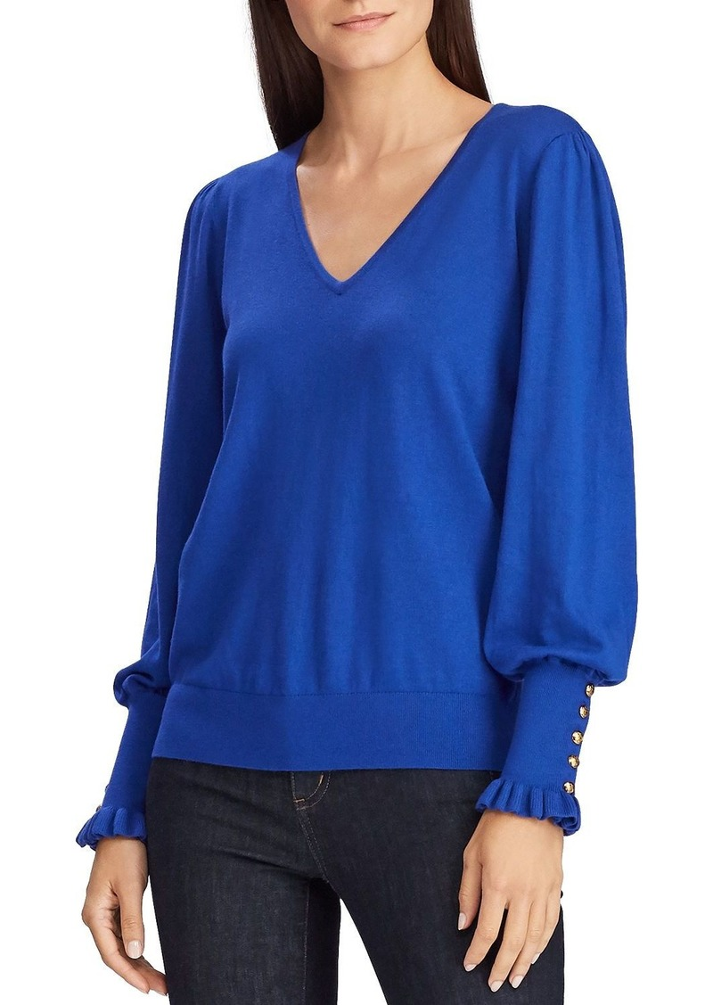 Lauren Ralph Lauren Button-Cuff Sweater