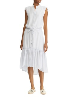Lauren Ralph Lauren Button-Down High/Low Midi Dress