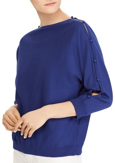 Lauren Ralph Lauren Button-Sleeve Boatneck Top