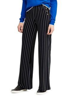 Lauren Ralph Lauren Button-Trimmed Mid-Rise Jersey Pants