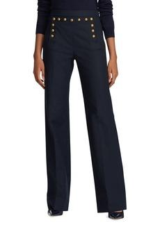 Lauren Ralph Lauren Buttoned-Placket Pants