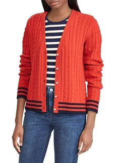 Lauren Ralph Lauren Cable-Knit Buttoned Cardigan