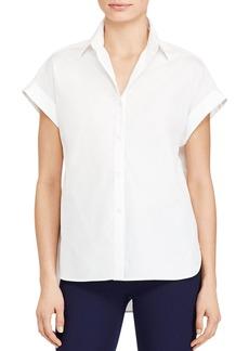 Lauren Ralph Lauren Cap Sleeve Button Down Shirt