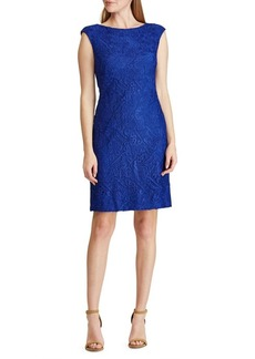 Lauren Ralph Lauren Cap Sleeve Lace Dress