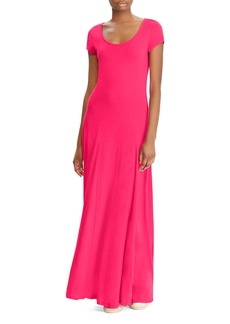 Lauren Ralph Lauren Cap Sleeve Maxi Dress