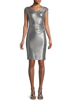Lauren Ralph Lauren Cap-Sleeve Ruched Dress
