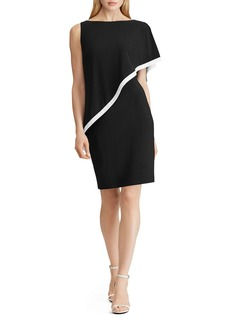 Lauren Ralph Lauren Cape-Detail Jersey Dress