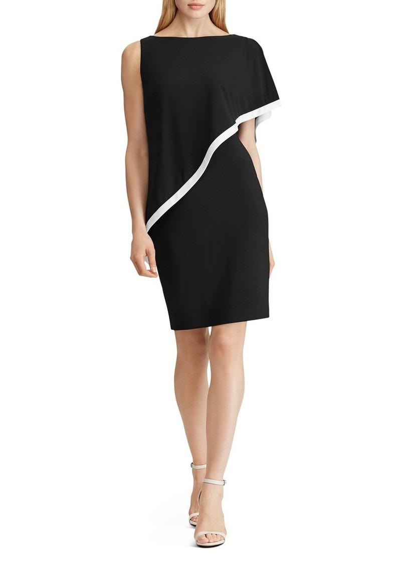 Lauren Ralph Lauren Cape-Detail Jersey Dress