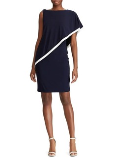 Lauren Ralph Lauren Cape Jersey Sheath Dress