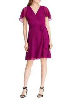 Lauren Ralph Lauren Cape-Overlay Dress