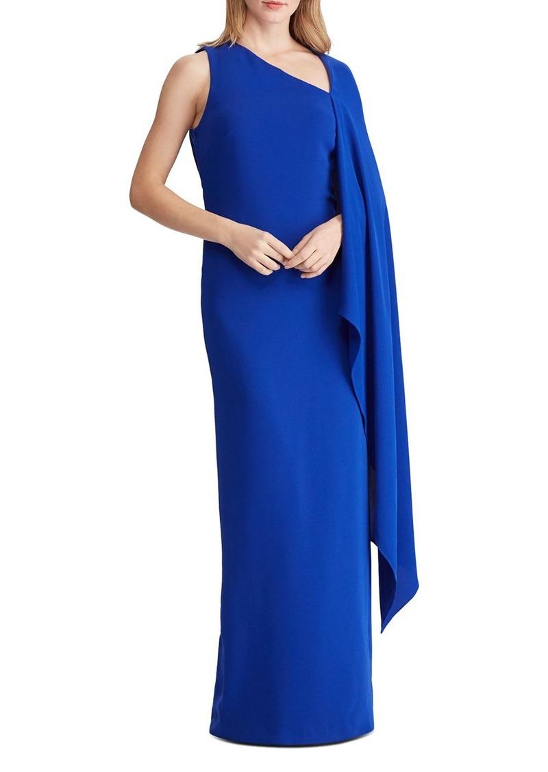 Lauren Ralph Lauren Cape-Overlay Gown