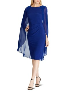 Lauren Ralph Lauren Cape-Overlay Jersey Dress