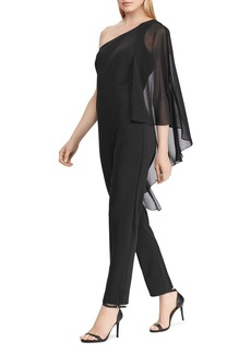 Lauren Ralph Lauren Cape-Overlay One-Shoulder Jumpsuit - 100% Exclusive