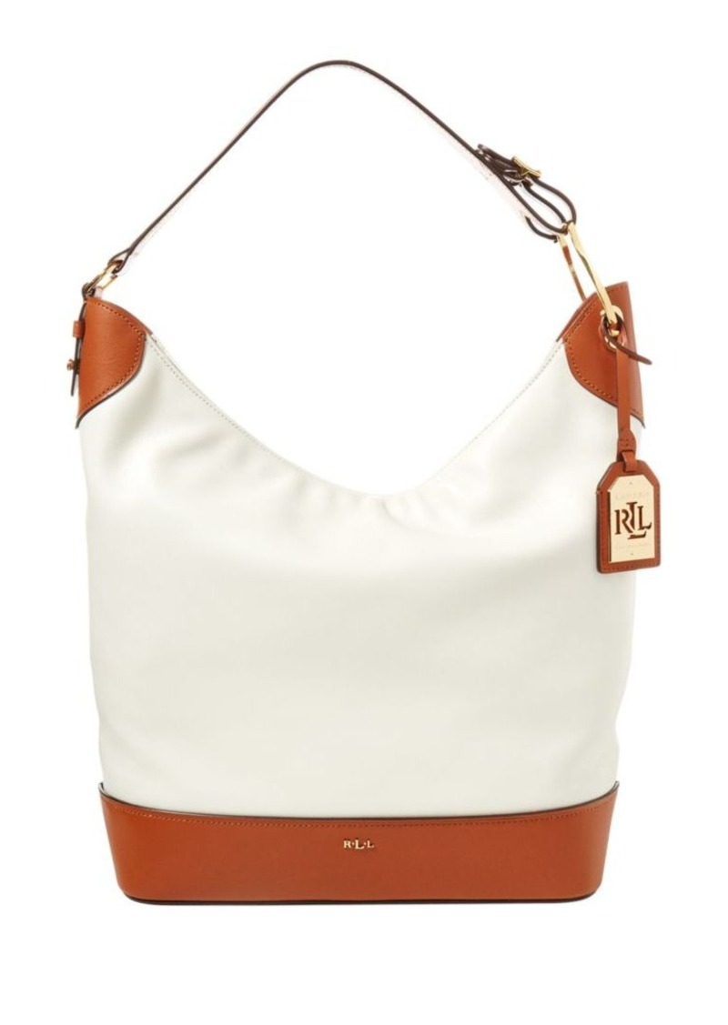 e0abc43c53 On Sale today! Ralph Lauren Lauren Ralph Lauren Carissa Leather Hobo Bag