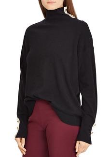Lauren Ralph Lauren Cashmere Button-Trim Turtleneck - 100% Exclusive