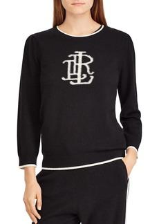 Lauren Ralph Lauren Cashmere Monogram Sweater - 100% Exclusive