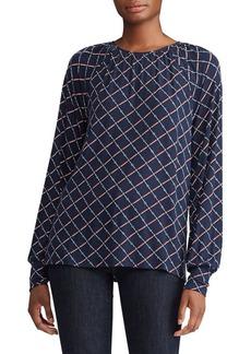Lauren Ralph Lauren Chain Print Jersey Knit Top