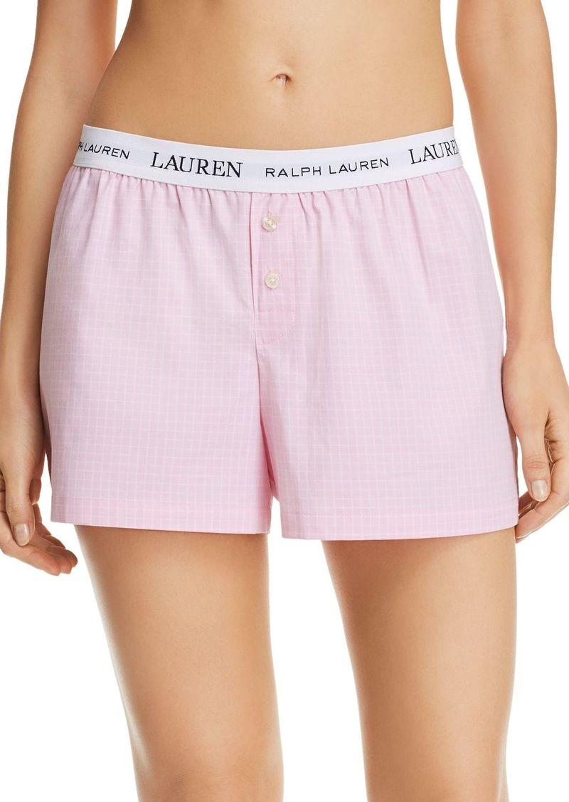 Lauren Ralph Lauren Check-Print Boxer Shorts