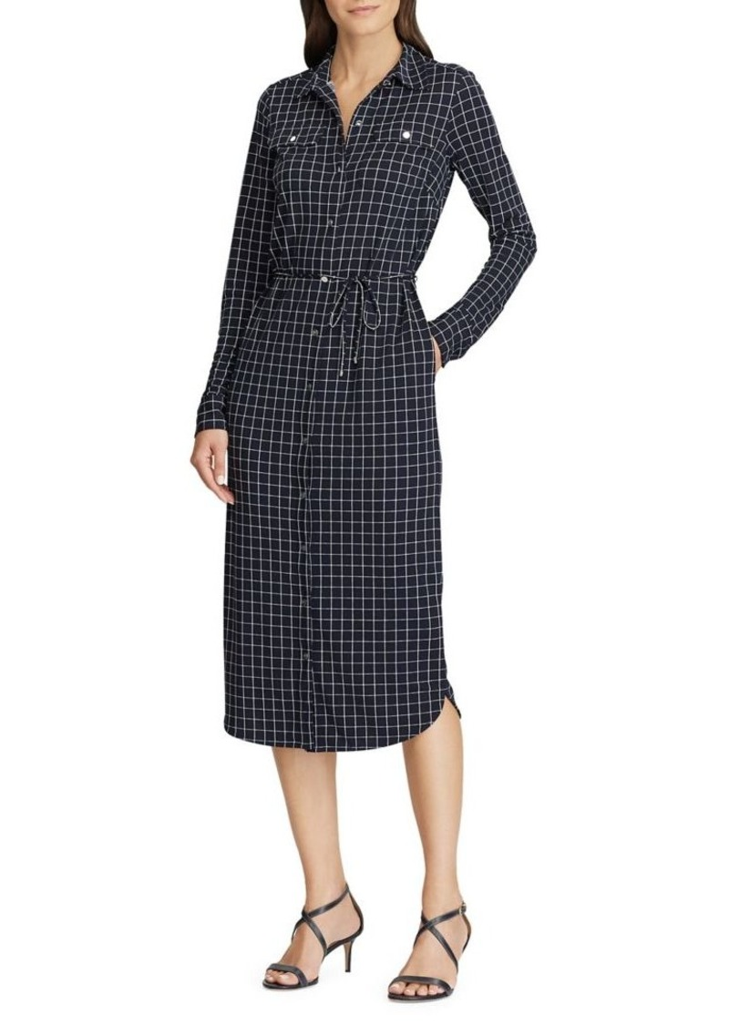 Lauren Ralph Lauren Check-Print Self-Tie Shirtdress