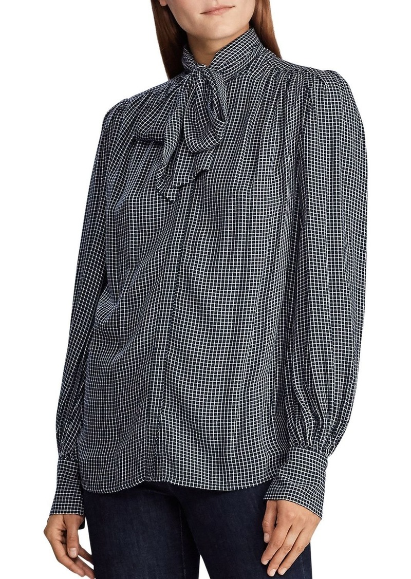 Lauren Ralph Lauren Checked Bow-Detail Shirt