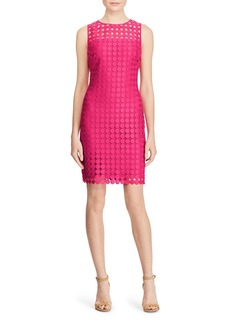 Lauren Ralph Lauren Circle-Lace Sheath Dress