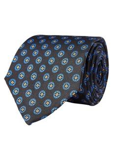 Lauren Ralph Lauren Circle-Print Neat Silk Tie