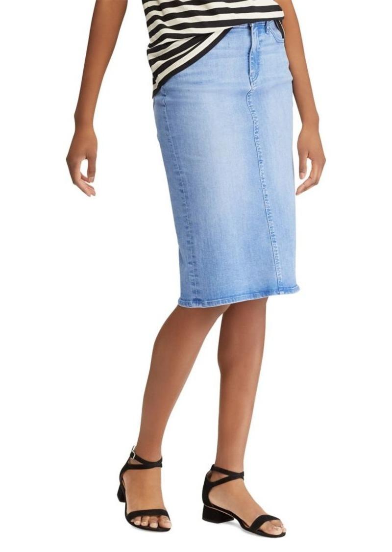 b060a1bd71 Lauren Classic Denim Pencil Skirt