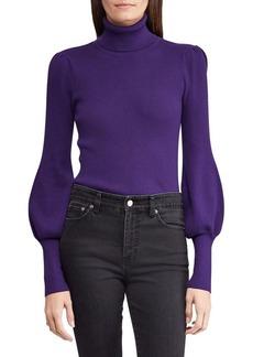 Lauren Ralph Lauren Classic Puffed-Sleeve Sweater