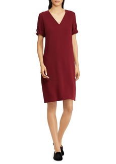Lauren Ralph Lauren Classic V-Neck Shift Dress