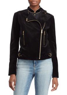 Lauren Ralph Lauren Classic Velvet Moto Jacket