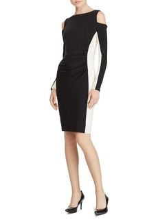 Lauren Ralph Lauren Cold-Shoulder Dress