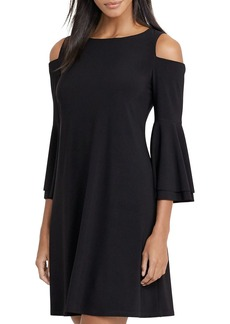 Lauren Ralph Lauren Jersey Bell Sleeve Cold Shoulder Dress