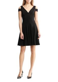 Lauren Ralph Lauren Cold Shoulder Fit-And-Flare Dress