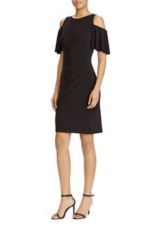 Lauren Ralph Lauren Cold-Shoulder Flutter Sleeve Dress