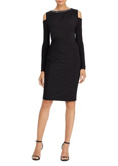 Lauren Ralph Lauren Cold-Shoulder Jersey Dress