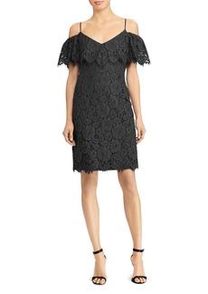 Lauren Ralph Lauren Cold-Shoulder Lace Dress