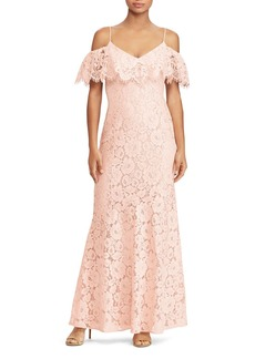 Lauren Ralph Lauren Cold-Shoulder Lace Gown - 100% Exclusive
