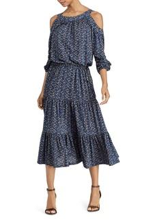 Lauren Ralph Lauren Cold-Shoulder Midi Dress